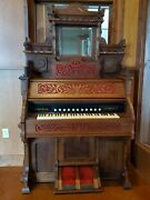 Victorian Style Pump Organ Made By The Bell Company Between 1887-1920