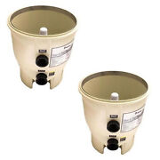 Pentair Pool Filter Almond Bottom Tank Assembly Replacement   178578 2 Pack