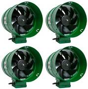 4 Hydrofarm Acfb8 Active Air 8 Hydroponics Inline Duct Booster Fans - 471 Cfm
