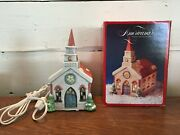 1991 Lighted Church National Decorations Christmas Collectibles Holiday Village
