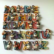 Raggedy Ann And Andy Alphebet Letters Figurines Set A-z Resin 2.5 H