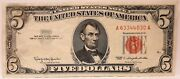 United States 1963 5 Dollars Collectorand039s Misprint Red Ink Missing Serial.rare