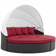 Modway Convene Canopy Outdoor Patio Daybed - Espresso Red