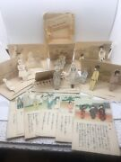 Antique Vintage Japanese Paper Dolls Pop Up Style Children Here And There