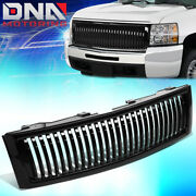 For 2007-2013 Chevy Silverado 1500 Fence Styling Front Bumper Grille Grill Guard