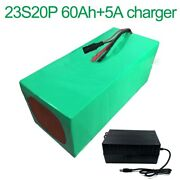 With 5a Charger 84v 60ah 23s20p Li-ion Battery Electric Motorcycle Bicycle Ebike