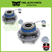 Pair Front Wheel Bearing And Nut For Buick Century Lucerne Pontiac Grand Montana