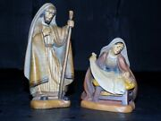 Anri Wood Carvings- Joseph, Mary, And Baby Jesus