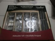 International Supreme Cutlery Stainless Victorian Set Of 102 Pieces Svc/12 Nib