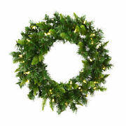 Vickerman 24 Imperial Pine Artificial Christmas Wreath With 50 Warm White Le...
