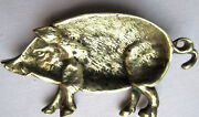 French Ashtray Or Coin Purse Art Deco, Art Nouveau, Gilded Bronze, Pig