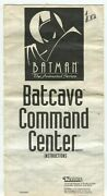 Batman The Animated Series Batcave Command Center Instructions Only 020620dbt