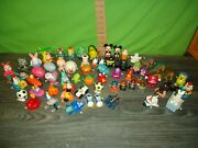 Vintage 1970s-90s Toy Wind Up Toy Figure Lot, Disney, Monsters, Bmw, Tomy, Etc E