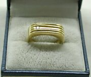 Vintage Very Nice Gents 18ct And Diamond Set Little Finger Pinky Ring