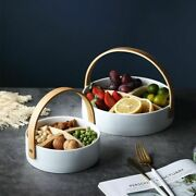 Nordic Style Ceramic Fruit Tray Food Dried Dessert Snack Plates Candy Basket