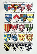 Heraldry Coat Of Arms Ecu Scotland Home Crawford Herring Caithness Lithography