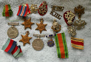 D601. Lot Of Military Medals, Badges Etc