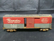 Pacemaker Freight Nyc 174580 Red Box Car- Steel - Marx O27 Gauge- Vintage Usa