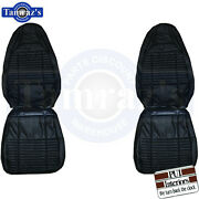 1970 Challenger Se R/t Front Seat Covers Upholstery Leather Black Pui New