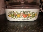 Corning Ware Vintage Spice Of Life With Tops