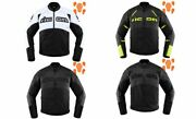 Icon Contra 2 Leather Textile Armor Mens Motorcycle Riding Street Racing Jacket