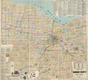 1887 Map Of Monroe County New York With Farm Names