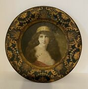 """Antique-1905 Vienna- Signed Wagner - 10"""" Collector's Portrait Of Woman Plate"""