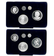 Netherlands 50th Anniv. Of Liberation 1945-95 Coin Set And Silver Medal And Coa. B14