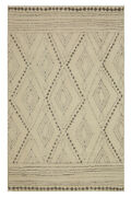 Mohawk Ivory Dotted Angled Waves Contemporary Area Rug Geometric 90874 83023