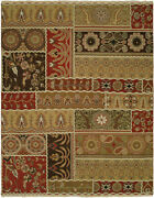 Kalaty Multi-color Traditional-european Petals Rings Area Rug Patchwork Cp-823