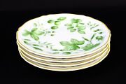 Villeroy And Boch Parkland Green 6.75 Bread And Butter Plates House Garden Set Of 4