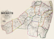 1861 Map Of Monmouth County New Jersey