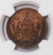 Ngc-sp65rb 1884h British North Borneo Cent Top Grade Much Red