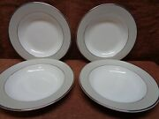 Pickard Solstice 4 Rimmed Soups  Free Shipping
