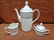 Pickard Solstice A Coffeepot Creamer Covered Sugar Free Shipping
