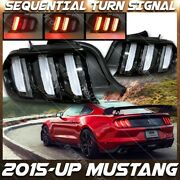 For Ford 15-20 Mustang Euro Style Tail Lights Sequential Led Turn Signal