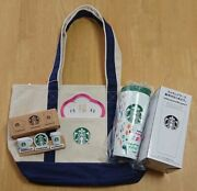 Starbucks Japan Coffee 2020 Tote Bag Stainless Tumbler Clip Set New Limited Rare