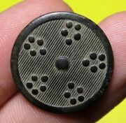 Old Medieval Spanish Colonial Royal Button Type Shield With Initials 15-16 Th C