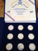 1987 Papal Visit Silver Collection Of 9 Proof Silver Art Medals E4955