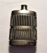 Chrome Plated Caged Glass Flask With Screw Off Cork 1920's Prohibition Era