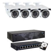 8ch Nvr 4 4k 2.7-13.5mm 72 Ir Leds Ip Poe Security Camera System 4tb Hd