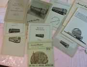 Vintage Group Of 10 Annual 24pg Reports New York City Nyc Bus Omnibus Corp Lot