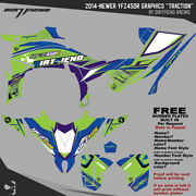 Dfr Traction Graphic Kit Electric Sides/fenders 2014-newer Yamaha Yfz450r