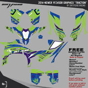 Dfr Traction Graphic Kit Electric Full Wrap 2014-newer Yamaha Yfz450r