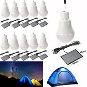 12 Led Solar Powered Rechargeable Bulb Light Outdoor Indoor Camping Tent Lamp