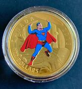 Canada 2015 100 14k Gold Coin Superman Comic Book Covers 4 1940 - Rcm