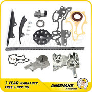 Fit 85-95 Toyota 4runner Pickup Celica 2.4 Timing Chain Kit Cover Water Pump Set