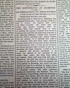 Jesse James Younger Brothers - Otterville Missouri Train Robbery 1876 Newspaper