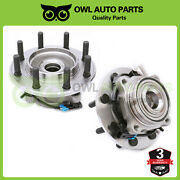 2 Front 8 Lug Wheel Bearing Hub Assembly For Chevrolet Gmc 3500 Chevy 2500 4x4