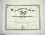 1919 Victory Liberty Loan Federal Reserve District Number 7 Honor Certificate